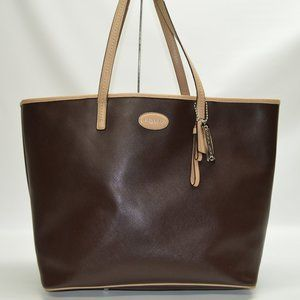 Coach Metro Brown Leather Large Tote F31326